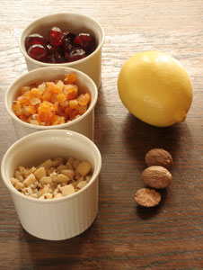 fruit and nuts for baking