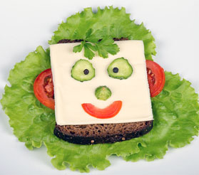 funny sandwich face