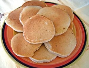 plate of buckwheat pancakes
