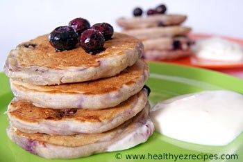 plate of buttermilk pancakes