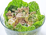 waldorf salad with poached chicken