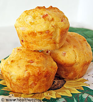 cornmeal muffins with ham and cheese