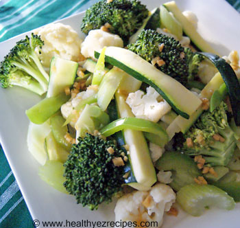 plate of honeyed greens