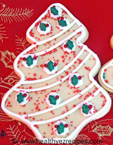 decorated low fat sugar cookies