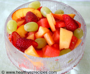 bowl of fresh fruit salad