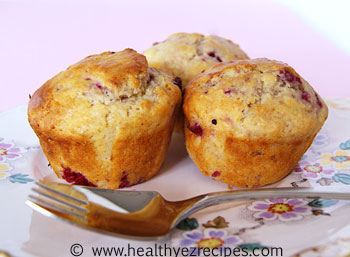 low fat raspberry muffins