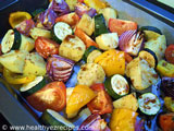 roasted vegetable salad with balsamic