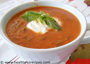 bowl of roasted tomato soup