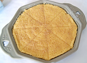 freshly baked shortbread