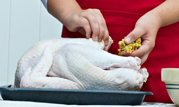 Stuffing Turkey