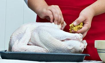 Stuffing Turkey