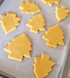 cut out sugar cookies ready to bake