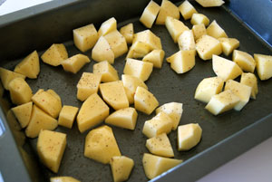 roasting potato for salad