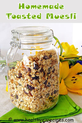 jar of toasted muesli