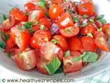 baby roma tomato basil salad