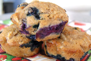 apple blueberry muffins