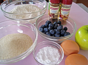 ingredients for apple muffins