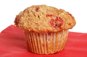 apple raspberry muffins