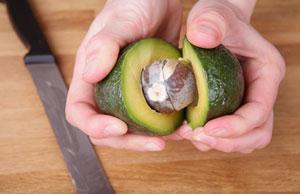 Separating an avocado