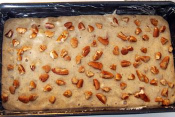 buckwheat banana loaf ready for oven