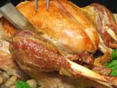 carving a turkey leg