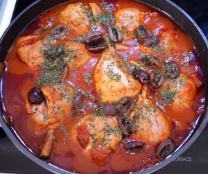 chicken cacciatore with olives