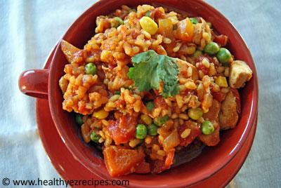 Spanish chicken pilaf