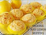 orange and lemon muffins