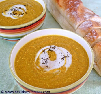 curried cashew and carrot soup