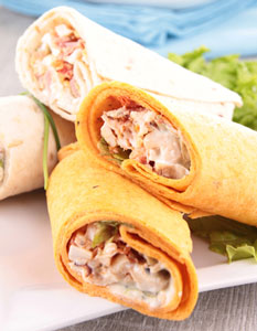 plate of healthy wraps