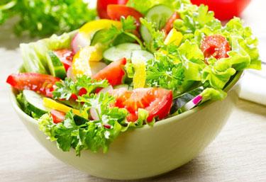 making a salad
