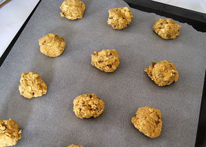 oatmeal chocolate chip cookies ready to bake