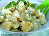 potato salad in a creamy dressing
