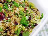 bowl of quinoa stuffing