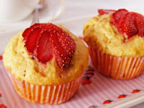 strawberry and orange muffins