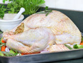stuffed turkey ready to bake