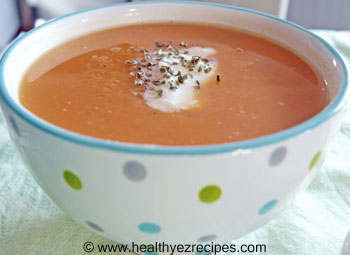 bowl of sweet potato soup