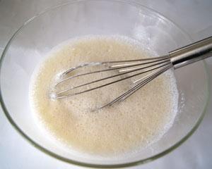 beating egg whites, milk and yogurt